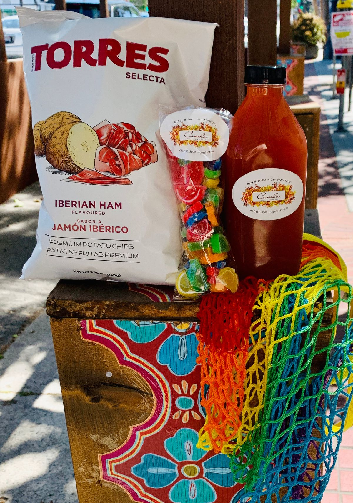 Pride sangria and snacks from Canela