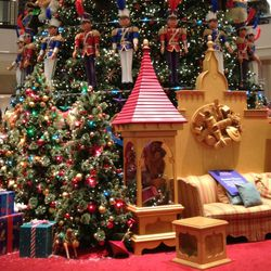 The tree bears the weight of 152 animated toys and ornaments, 60 strobe lights, and thousands of white lights.