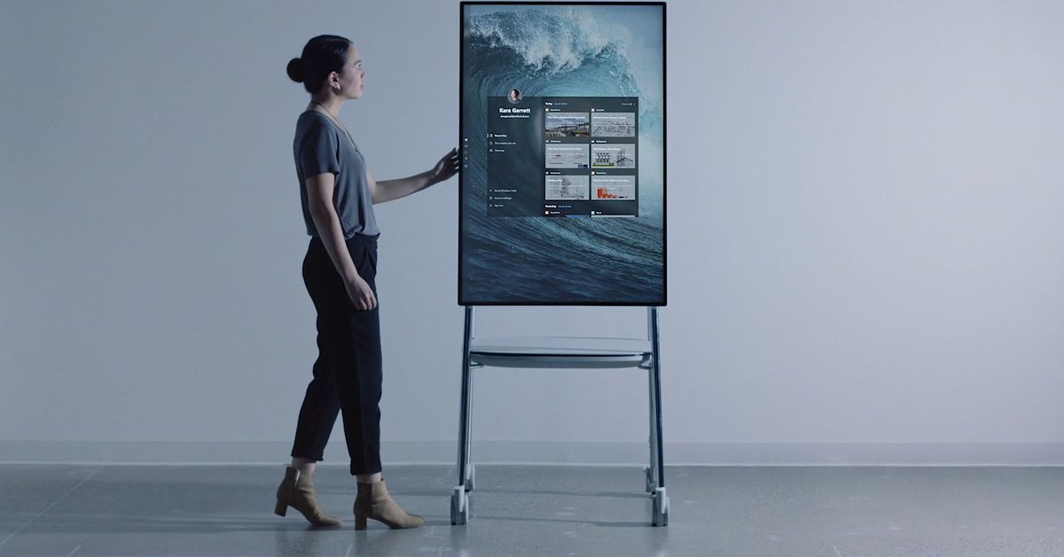 Microsoft's surface hub is designed for an office of the future.