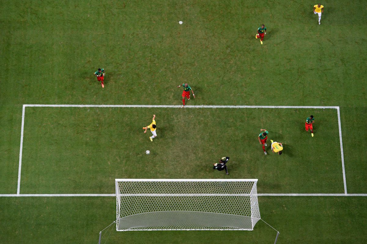 Fred was behind the ball; no offside