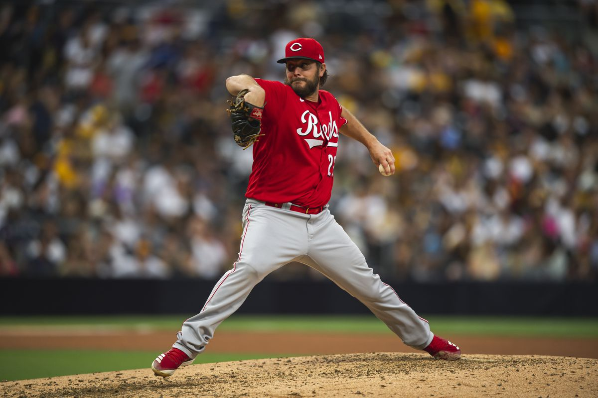 Wade Miley #22 of the Cincinnati Reds pitches in the fifth inning against the San Diego Padres on June 17, 2021 at Petco Park in San Diego, California.