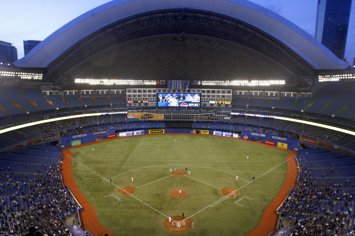 TORONTO, CANADA - MAY 9: The Rogers Centre is shown during MLB action between the Detroit Tigers and Toronto Blue Jays May 9, 2011 in Toronto, Ontario, Canada. (Photo by Abelimages/Getty Images)