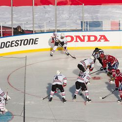 Toews and Ovechkin Faceoff