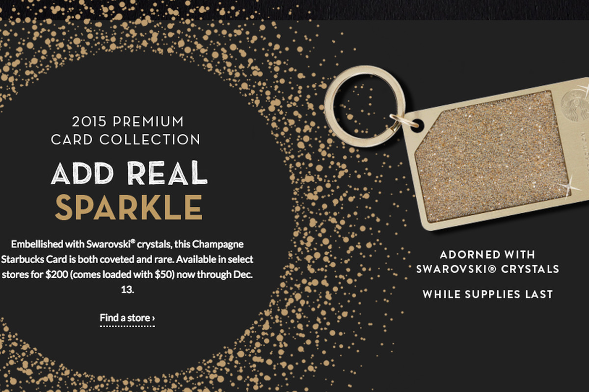 f4c839bef438 Starbucks   200 Crystal-Encrusted Gift Cards Are Already Sold Out ...
