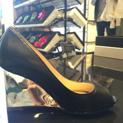 Wedged heel, size 36, now $180 (from $225)