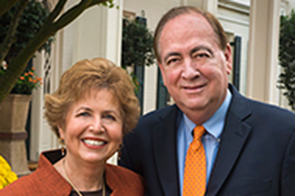 Dr Gogue with his wife, Mrs. Susie Gogue. Photo from his official university biography.
