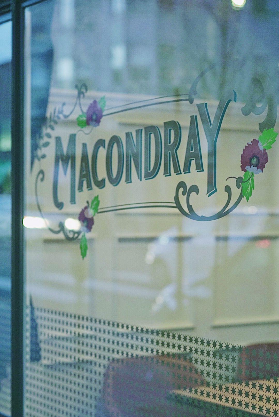 Window sign at Macondray