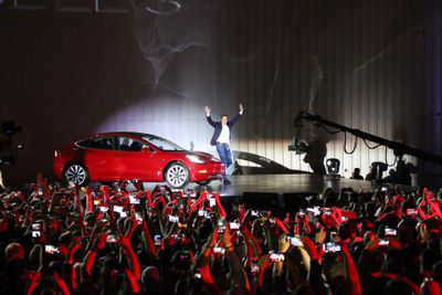 Elon Musk at the Tesla Model 3 launch