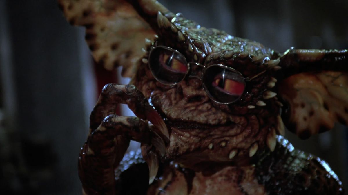 A close-up of a bespectacled Gremlin from Gremlins 2: The New Batch