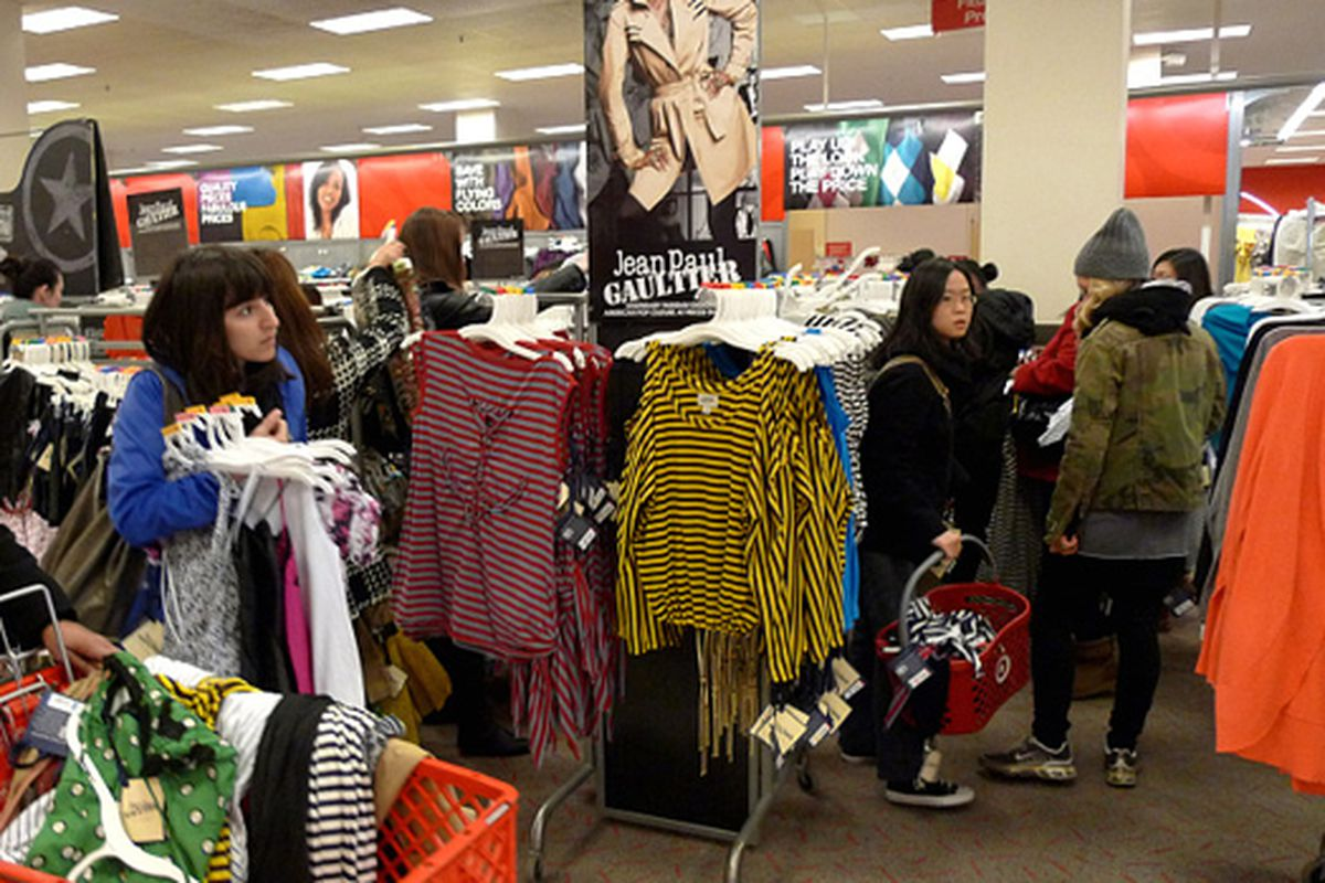"""Image via <a href=""""http://www.nbcnewyork.com/blogs/the-thread/THREAD-Shoppers-Turn-Out-for-Jean-Paul-Gaultier-for-Targets-Weekend-Launch-86752117.html"""">the Thread</a>"""