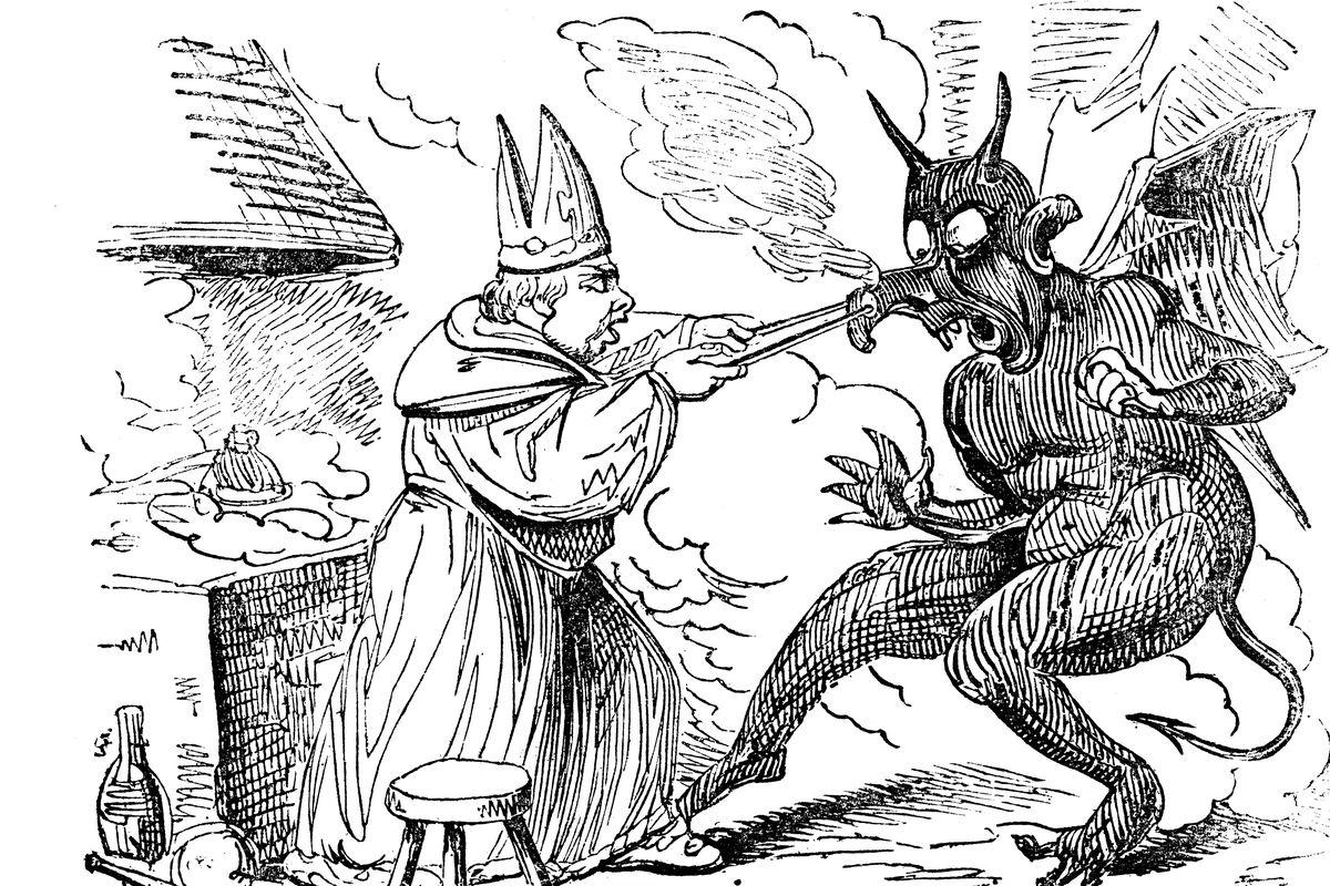 St Dunstan and the devil, 1826.