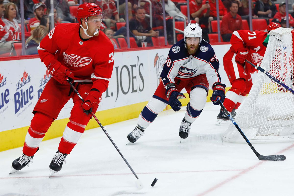 NHL: Columbus Blue Jackets at Detroit Red Wings