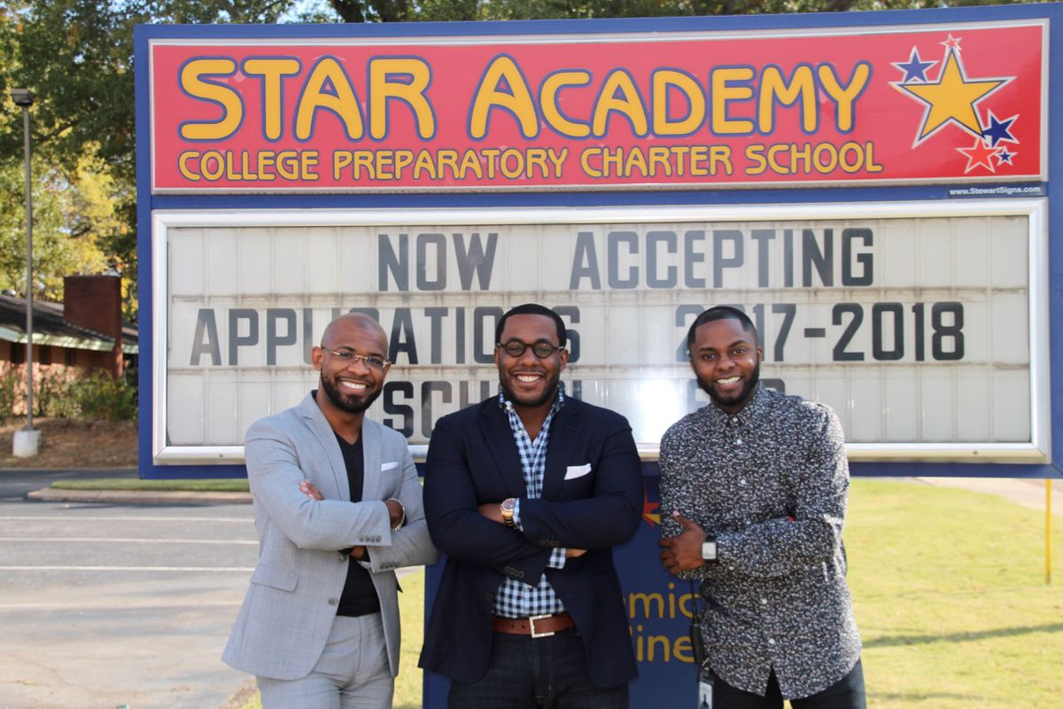 From left: Robert Harvey, Edward Stephens and James Johnson make up the new leadership team of STAR Academy Charter School in Memphis.