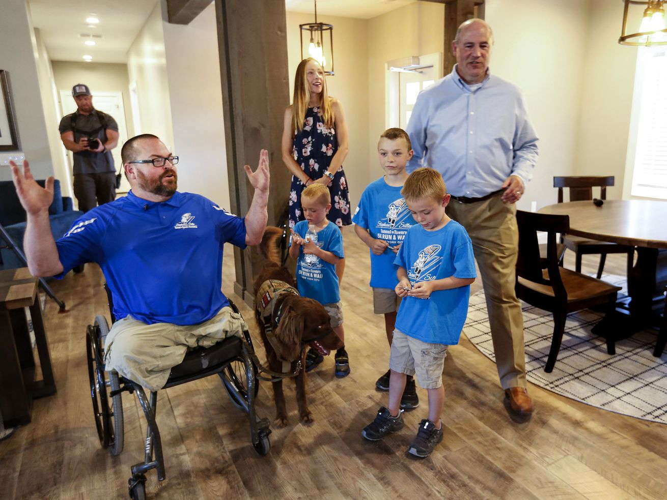 'I never thought anything could move me to tears': Purple Heart vet and family receive new home on eve of Independence Day
