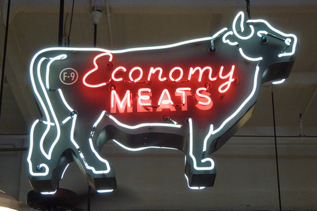Economy Meats at Grand Central Market, Downtown.