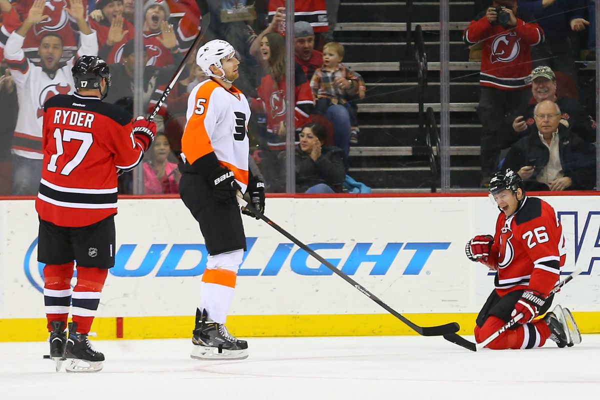 The last Devils-Flyers game went really, really well.