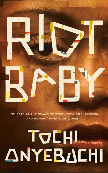 riot baby cover is a close up of a black woman's face