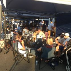 BYU fans enjoy tailgating before the BYU vs. Boise State game.