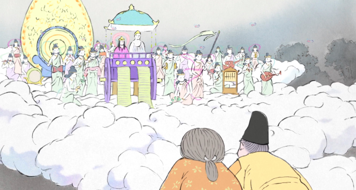 the tale of princess kaguya: the spirit procession and kidnapping ending