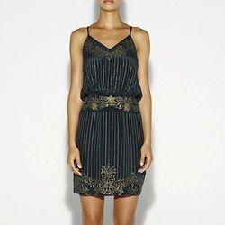 "<a href=""http://www.nicolemiller.com/flashback-sequin-dress"">Artelier Flash Back Sequin Dress</a>, $575"