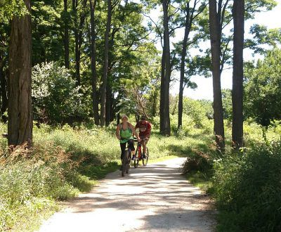 A couple bicycles, a growing trend, at Midewin National Tallgrass Prairie.<br>Dale Bowman/Sun-Times