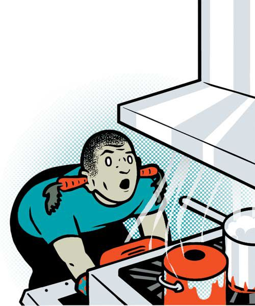 Illustration Of Noisy Vent In Kitchen