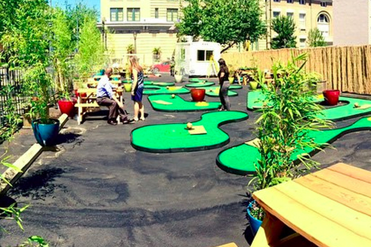 mini golf pop up the 19th hole tees off in july eater portland