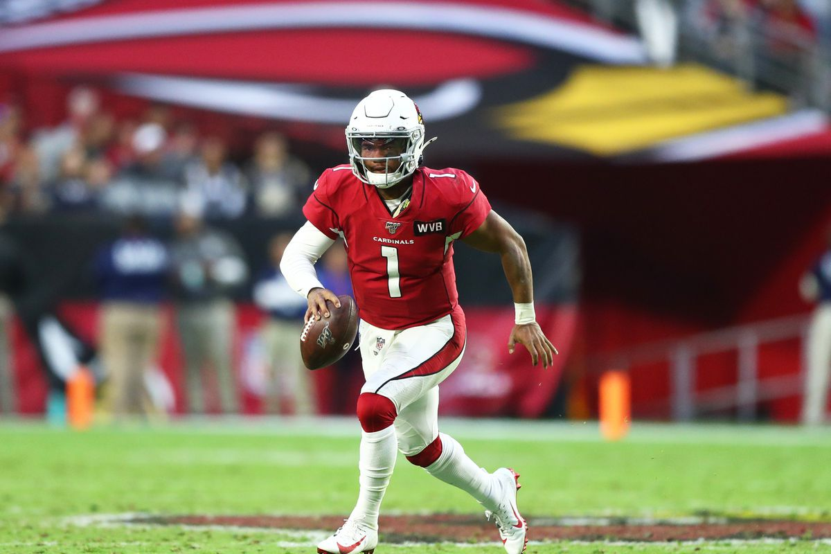 Arizona Cardinals quarterback Kyler Murray against the Los Angeles Rams in the second half at State Farm Stadium.