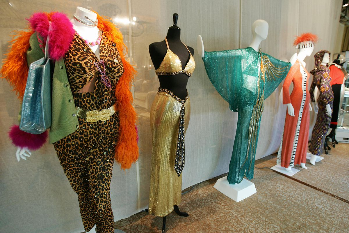 Costumes designed for Cher by Bob Mackie were displayed ahead of a 2006 auction by Sotheby's. | ROBYN BECK/AFP/Getty Images