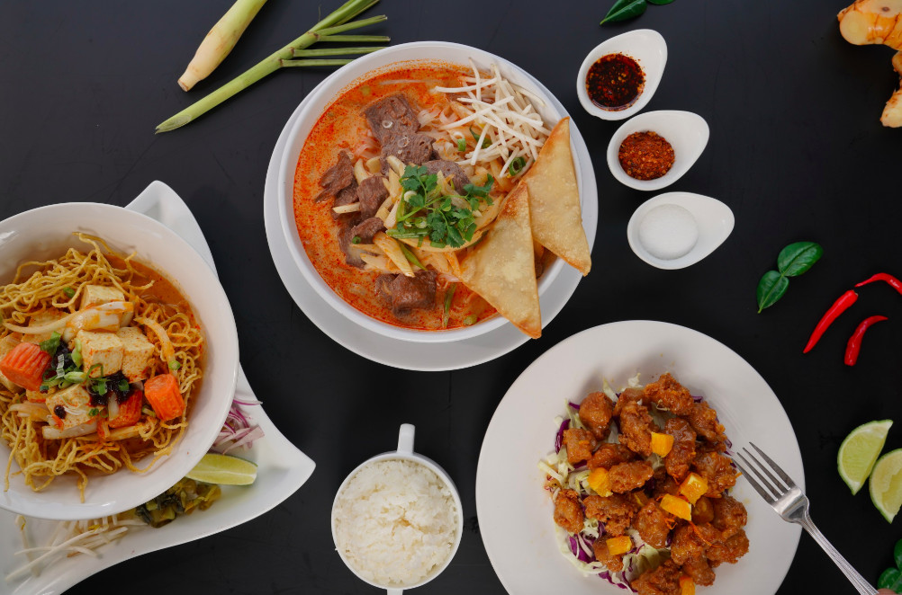 An assortment of dishes from Bulan Thai