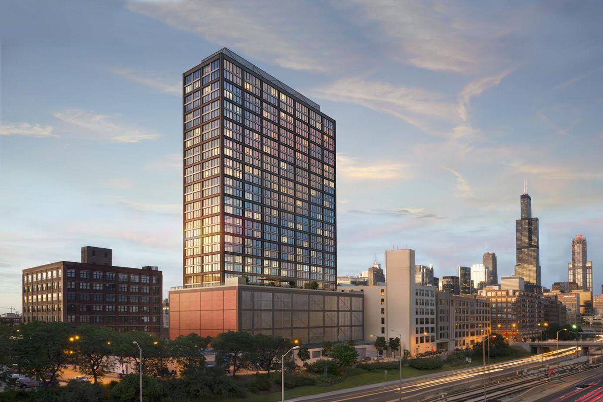 30 Story Landmark West Loop Rental Tower On Track For