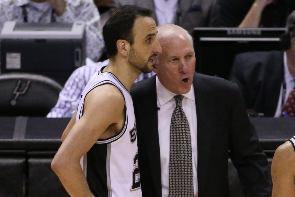 """""""Not so fast there, Manu. Not until you're healthy, son."""""""