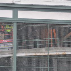 View of grandstand work on the west side of the ballpark