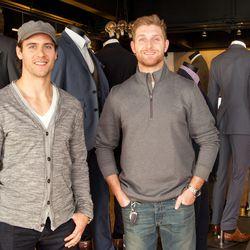 Washington Capitals players Aaron Volpatti and Karl Alzner.