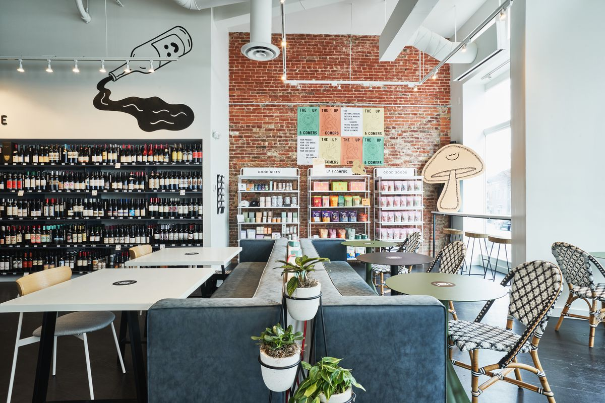Foxtrot Market's Georgetown store includes wine picked by the company's sommelier and lots of groceries from small D.C. brands.