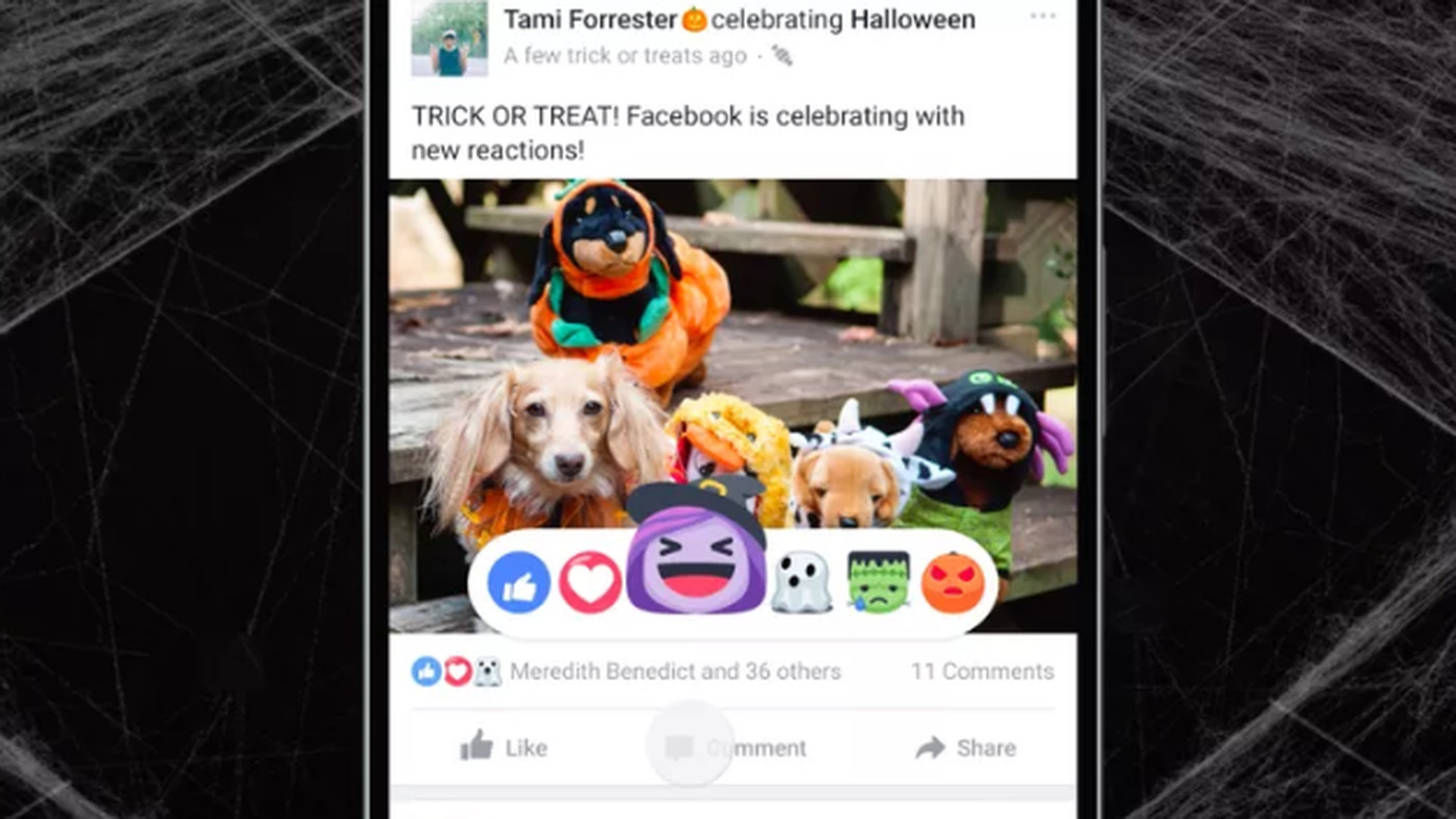 Halloween Pictures To Share On Facebook.Facebook S Adorable Halloween Reaction Emoji Are Adding Ghosts Where They Don T Belong The Verge