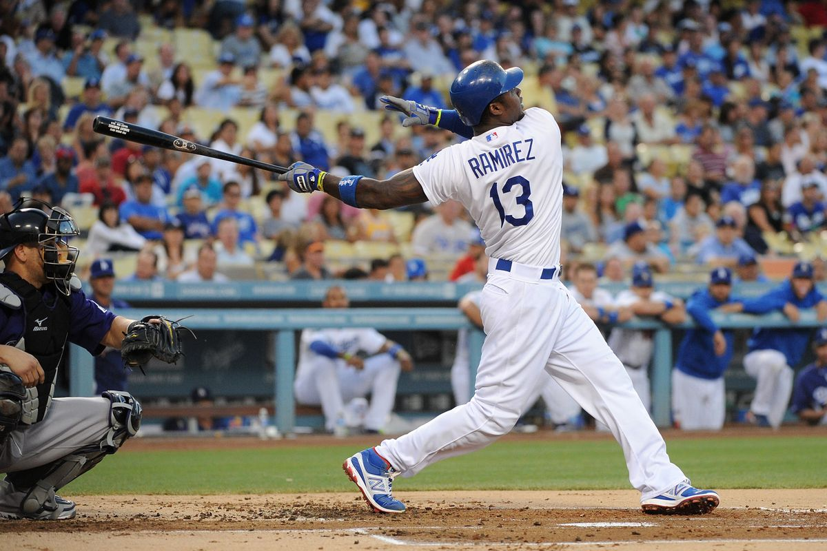 Welcome back, Hanley. Back so soon? Did you miss us in LA?  (Photo by Lisa Blumenfeld/Getty Images)