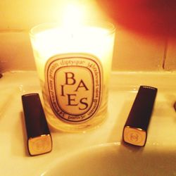 Three of my favorite things: <b>Diptyque's</b> Baies candle and <b>Chanel's</b> Rouge Allure Velvet lipsticks in La Diva (a true bright blue-pink) and Pirate (a real Chanel red). I love these lipsticks because they're moisturizing, rich in color, matte bu