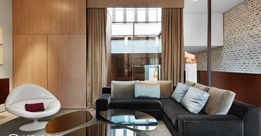 Sleek tribeca townhouse with midcentury vibe seeks 15 8m for Tribeca townhouse for sale