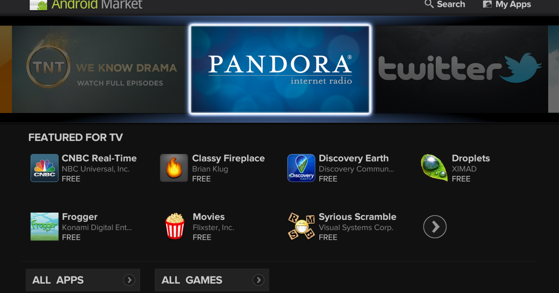 Google TV updated to Android 3 1, adds apps and Market - The