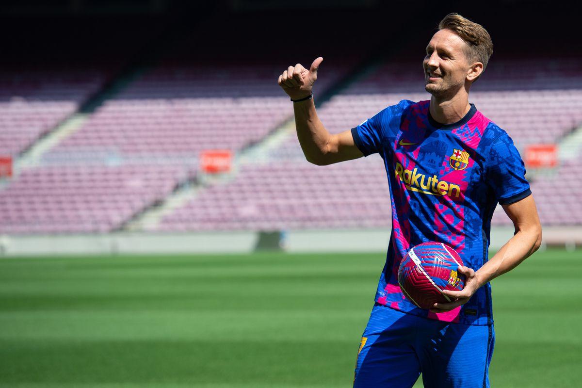Newly signed Barcelona player, Dutch forward Luuk de Jong