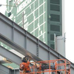 3:31 p.m. Another view of the welder, showing his position in right field -