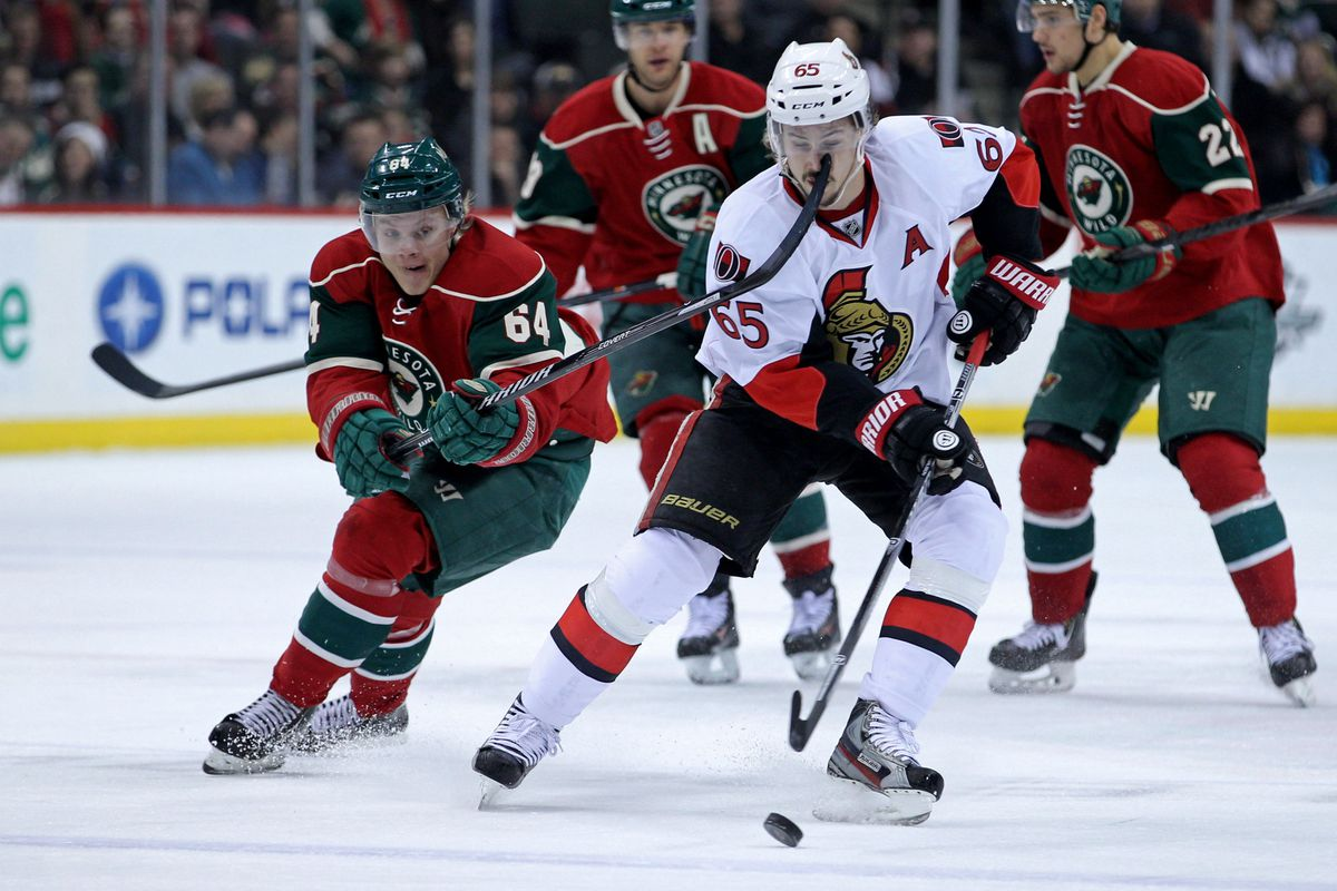 Swedes vs. Finns! Mike Granlund and the Wild take on Erik Karlsson and the Senators.