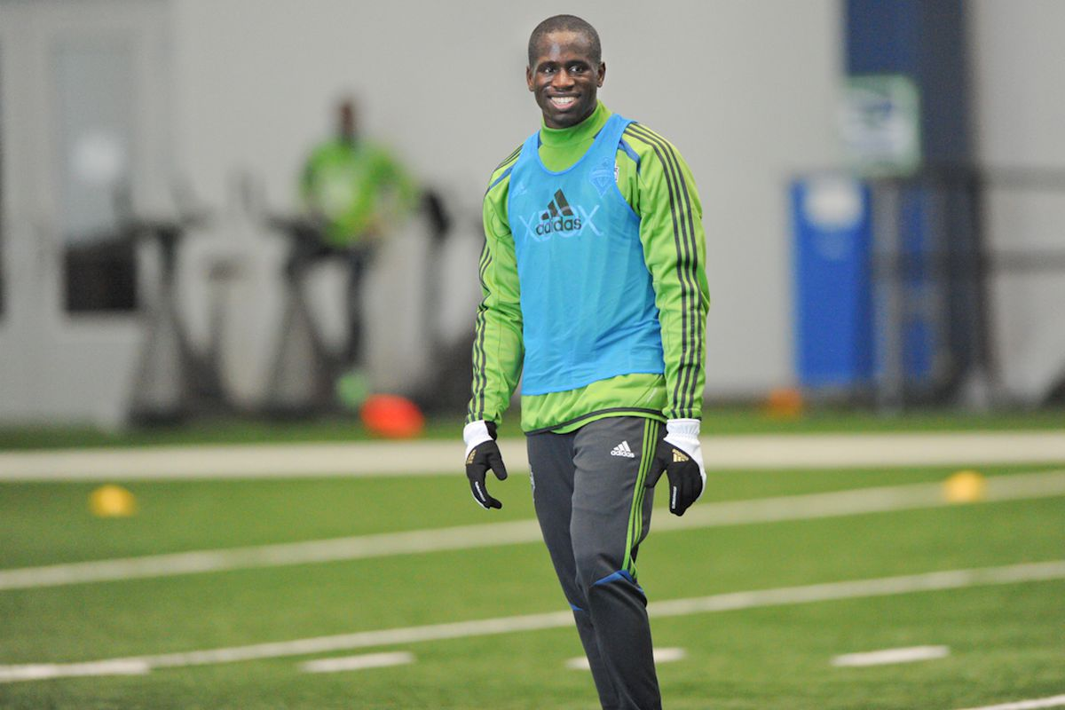 """Babayele Sodade During Sounders Training At The VMAC (Photo Courtesy of Chris Coulter/<a href=""""http://www.soundersphotos.com"""" target=""""new"""">SoundersPhotos</a>"""