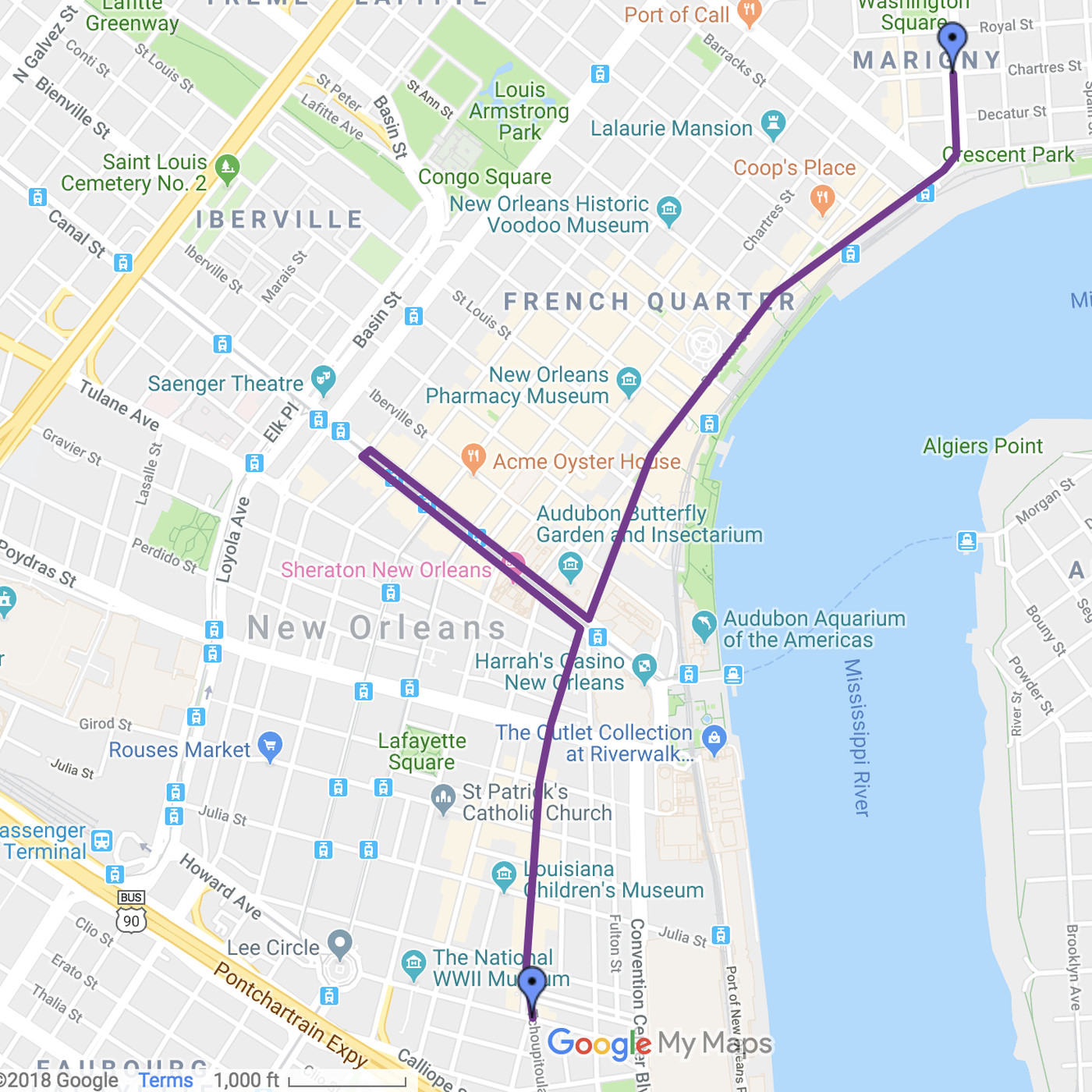 new orleans parade routes map New Orleans Halloween Krewe Of Boo Parade Street Closures Curbed new orleans parade routes map