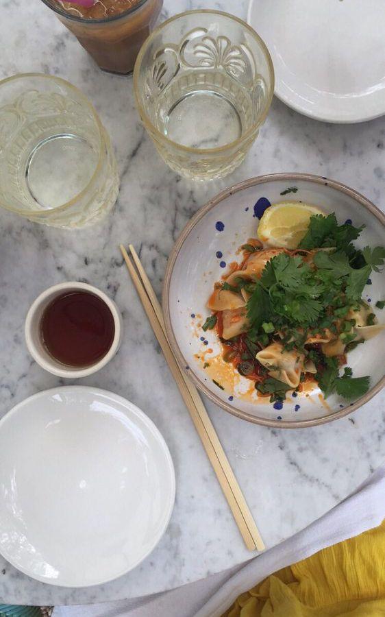 Elizabeth Street Cafe's dumplings