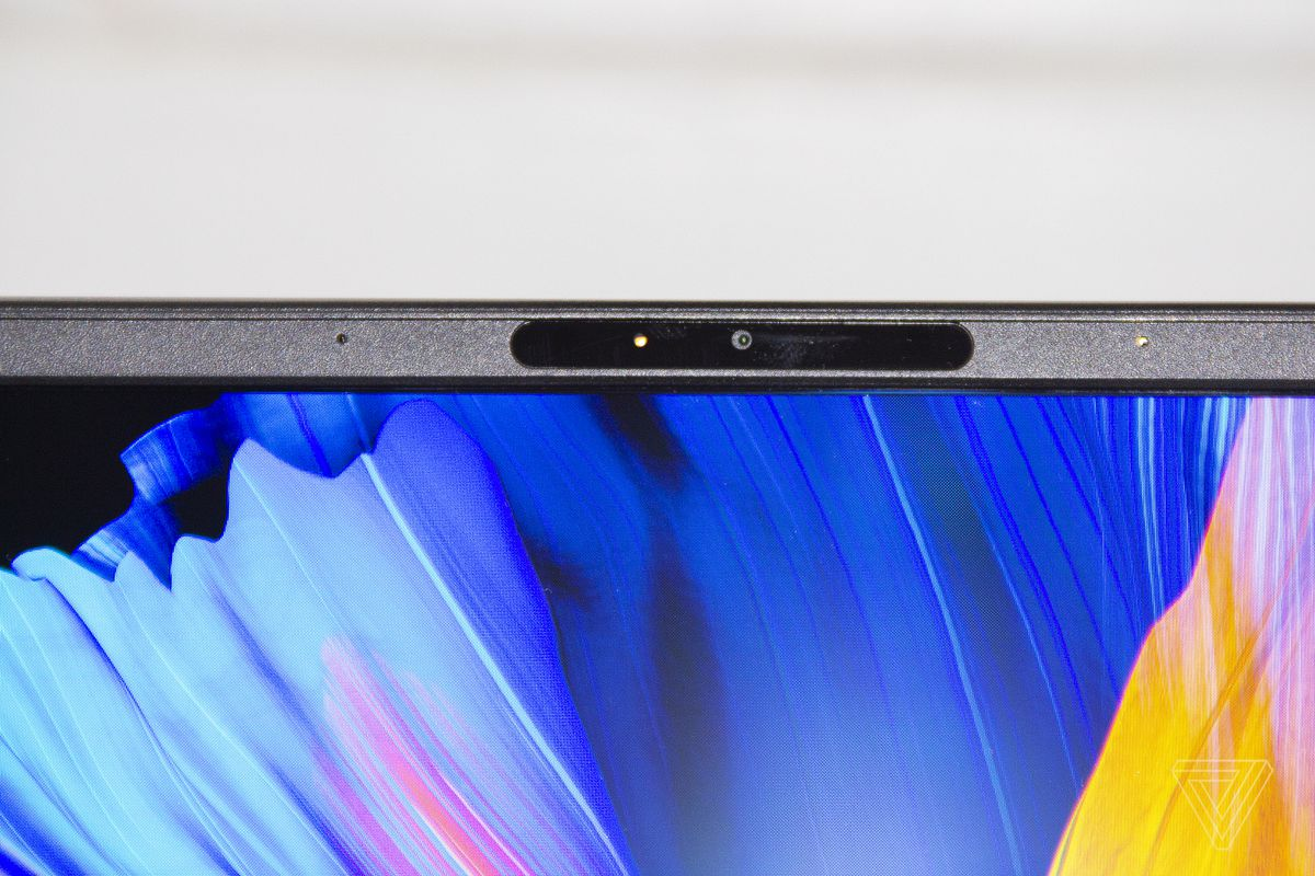 The webcam on the Asus Zenbook 13 OLED.