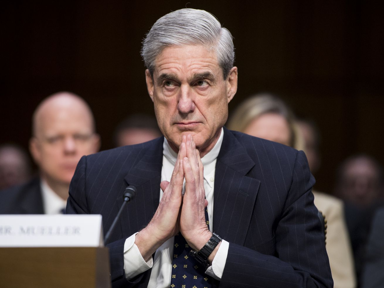 Robert Mueller testifying before the Senate Select Intelligence Committee in 2013.