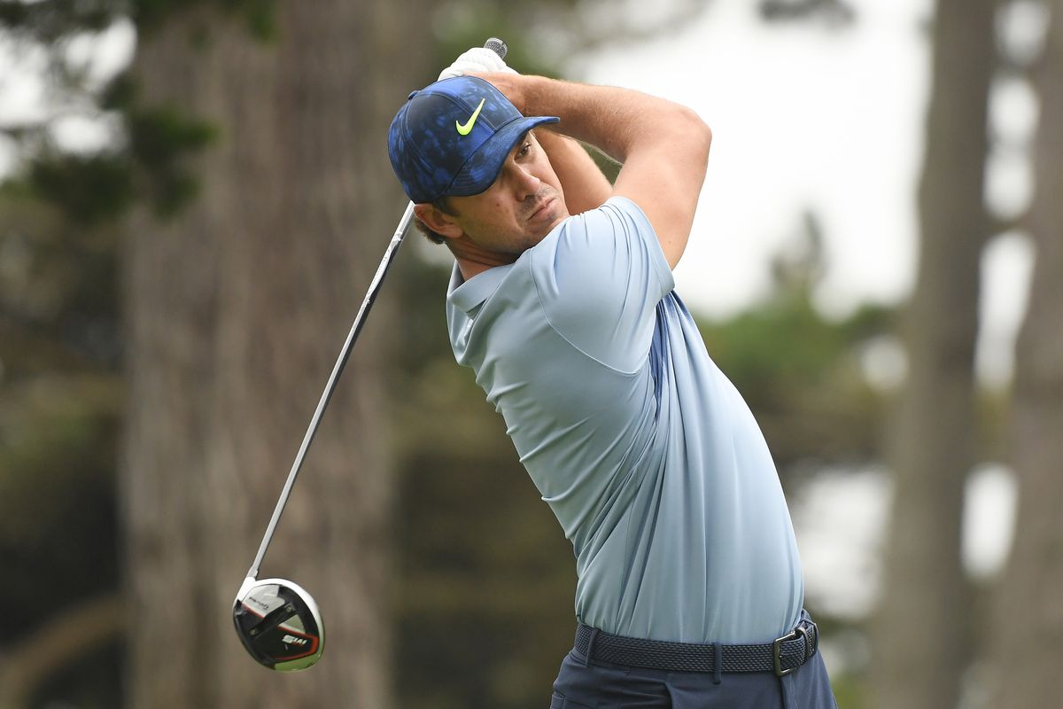 Brooks Koepka of the United States plays his shot from the 15th tee during the final round of the 2020 PGA Championship at TPC Harding Park on August 09, 2020 in San Francisco, California.