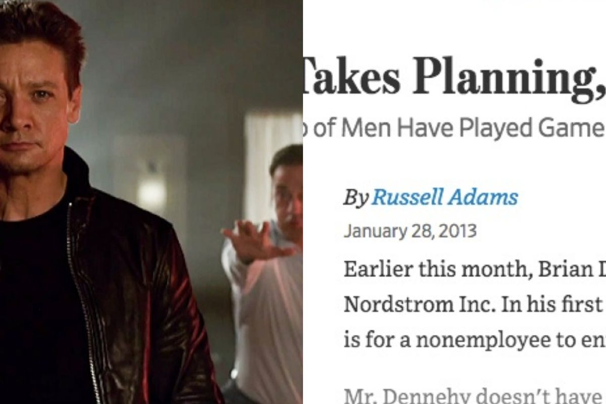 Jeremy Renner and Jon Hamm in Tag, and the Wall Street Journal article on which it's based